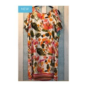 Charming Charlie Floral Cut out Dress S